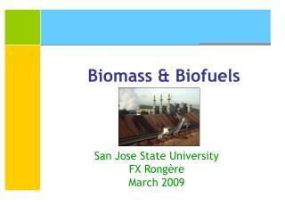 Biomass & Biofuels