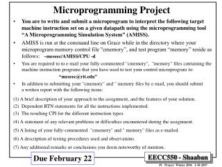 Microprogramming Project