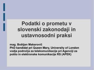 Podatki o prometu v slovenski zakonodaji in ustavnosodni praksi