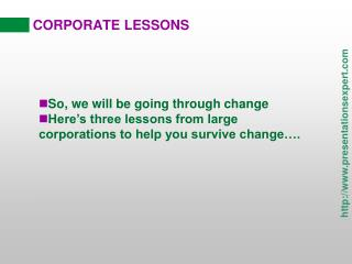 Story Based Corporate Lessons