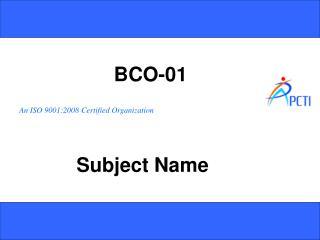 BCO-01