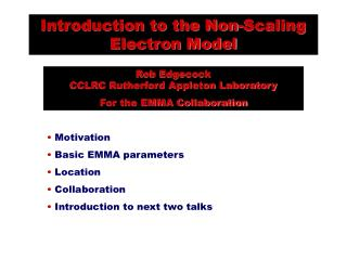 Introduction to the Non-Scaling Electron Model