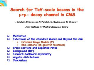 Search for TeV-scale bosons in the  +- decay channel in  CMS