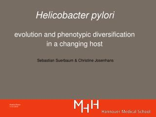 Helicobacter pylori  evolution and phenotypic diversification in a changing host