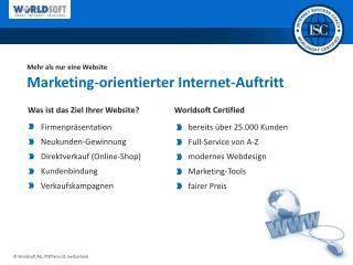 Mehr als nur eine Website Marketing-orientierter  Internet-Auftritt