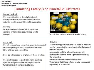 Simulating Catalysis on Bimetallic Substrates