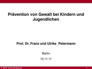 Prävention von Gewalt bei Kindern und Jugendlichen