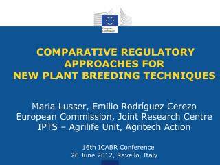 New plant breeding techniques (NPBTs)