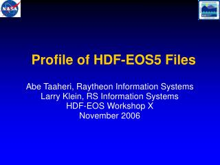 Profile of HDF-EOS5 Files