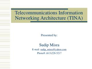 Telecommunications Information Networking Architecture (TINA)
