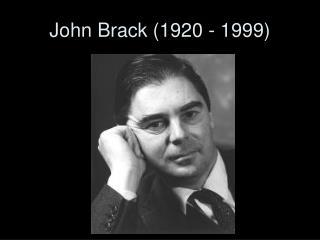 John Brack (1920 - 1999)