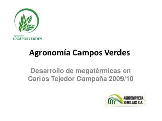 Agronom a Campos Verdes