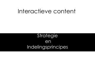 Interactieve content