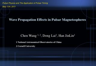 Wave Propagation Effects in Pulsar Magnetospheres