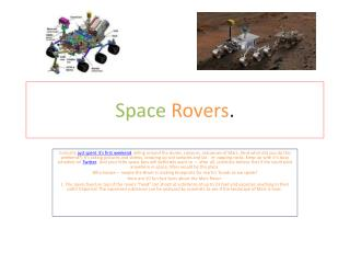 Space Rovers .