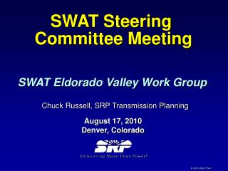 SWAT Steering  Committee Meeting