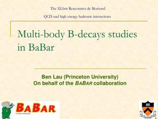 Multi-body B-decays studies in BaBar