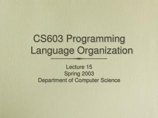 CS603