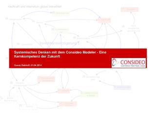 Systemisches Denken mit dem Consideo Modeler - Eine Kernkompetenz der Zukunft