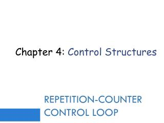 Repetition-Counter control Loop
