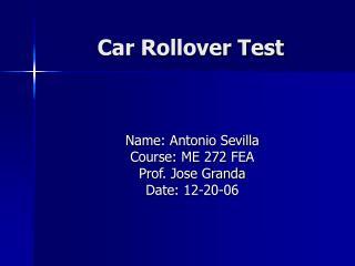 Car Rollover Test