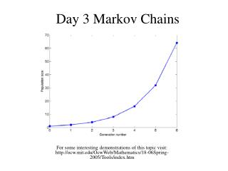 Day 3 Markov Chains