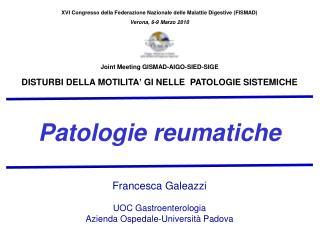 Patologie reumatiche