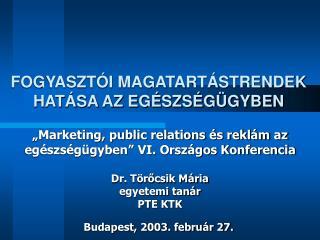 Budapest, 2003. február 27.