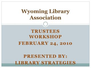 Wyoming Library Association