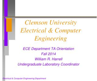 Clemson University Electrical & Computer Engineering