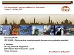 19th International Conference on Electricity Distribution Vienna 21  24 May 2007