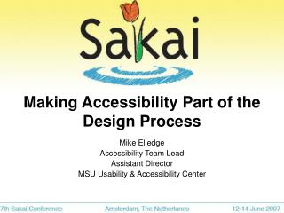 Making Accessibility Part of the Design Process