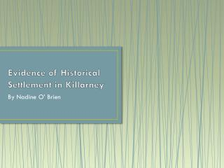Evidence of Historical Settlement in Killarney