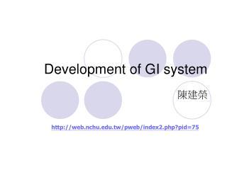 Development of GI system