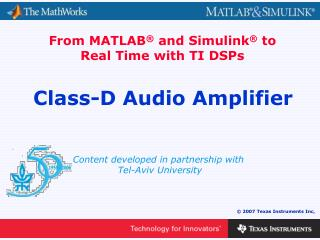 Class-D Audio Amplifier