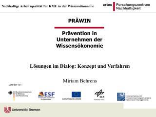 PR�WIN Pr�vention in Unternehmen der Wissens�konomie