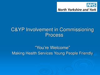 "C&YP Involvement in Commissioning Process ""You're Welcome"""