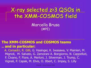 X-ray selected z>3 QSOs in  the XMM-COSMOS field