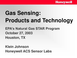 Gas Sensing: Products and Technology
