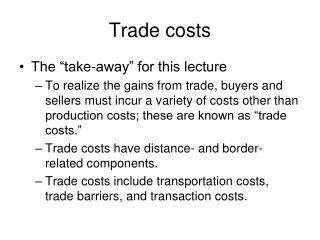 Trade costs