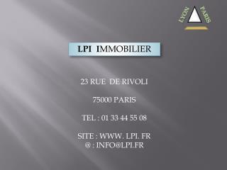 LPI  I MMOBILIER
