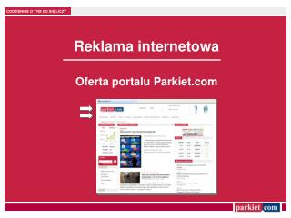 Reklama internetowa Oferta portalu Parkiet