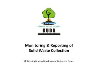 Monitoring & Reporting of Solid Waste Collection