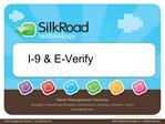 I-9  E-Verify