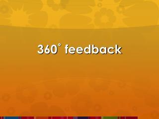 360˚ feedback