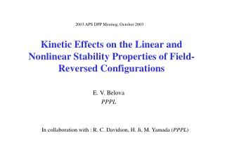 Kinetic Effects on the Linear and Nonlinear Stability Properties of Field-Reversed Configurations