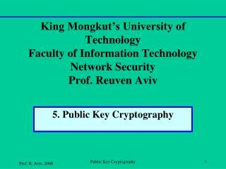5. Public Key Cryptography