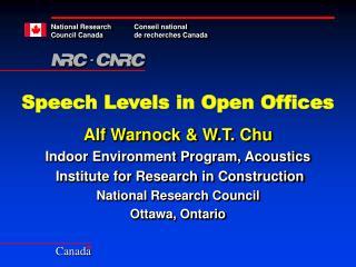 Speech Levels in Open Offices