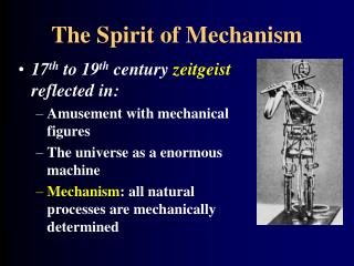 The Spirit of Mechanism
