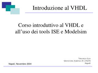 Introduzione al VHDL